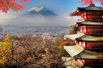 View of Mount Fuji, photograph by nicholashan for Adobe Stock