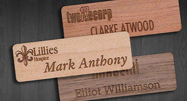 name tags made from trees meetings conventions