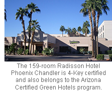 The 159-room Radisson Hotel Phoenix Chandler