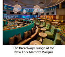 The Broadway Lounge at the New York Marriott Marquis