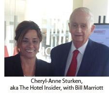 Cheryl-Anne Sturken, aka The Hotel Insider, with Bill Marriott