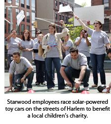 Starwood employees race solar-powered toy cars