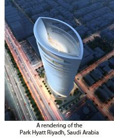 A rendering of the Park Hyatt Riyadh