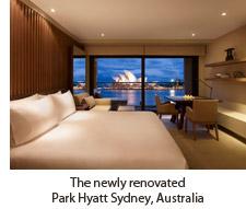 A room at the recently renovated Park Hyatt Sydney