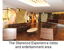 The Starwood Experience lobby and entertainment area