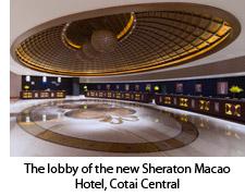 Lobby of the new Sheraton Macao