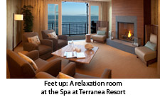 Relaxation room at the Spa at Teranea Resort