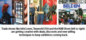 Trade shows like InfoComm, Texworld USA and the NAB Show