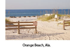Orange Beach in Baldwin County, Ala.