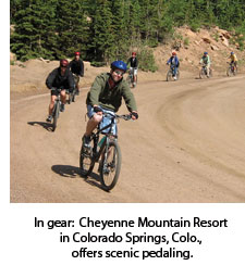 Scenic pedaling at Cheyenne Mountain Resort