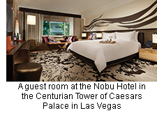 Nobu Hotel in the Centurian Tower of Caesars Palace in Las Vegas