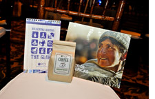 coffee grown by PCI's farms in Nicaragua and pictorial books and calendars with photographs of the organization's work