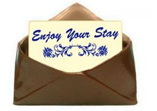 Chocolate envelope