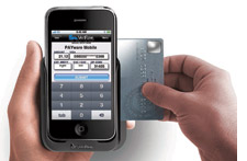 Swipe card on an iphone