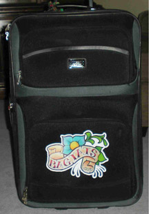 Suitcase with tattoo