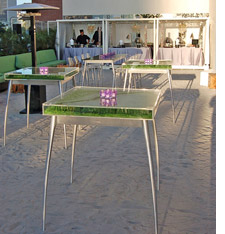 Grass tables