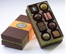 Logoed chocolates