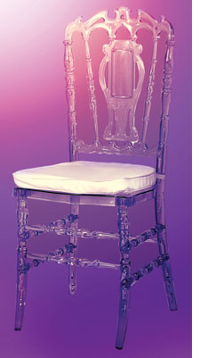 Clear polycarbon from Royal Chairs
