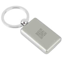 key chain with qr code