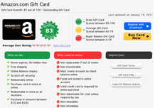 gift card review screen shot
