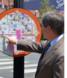 Wayfinding map on the street