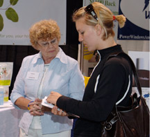 Meet-up at a trade show booth, meeting, event, convention