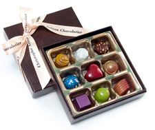 Jewel-colored chocolates
