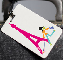 Paris luggage tag