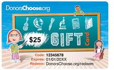 Donors choose card