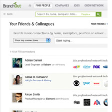 Branchout screen shot