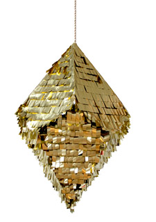 Gold diamond-shaped pinata