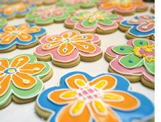 Flower cookies from Cookie Panache