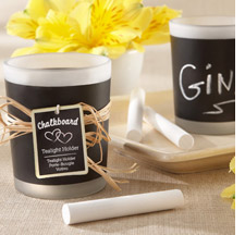 Chalkboard tea lights