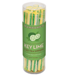 Key-lime straws