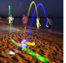 Glow-in-the-dark bocce