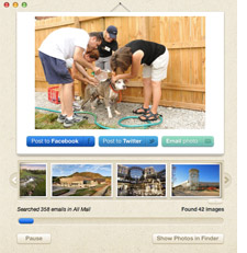 Lost Photos app screen shot