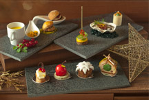 Savory and sweet canapes from Shangri-La Hotel, Singapore
