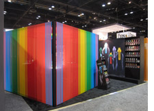 Bobble's colorful trade show booth