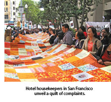 1109 Hotel housekeepers unveil a quilt of complaints