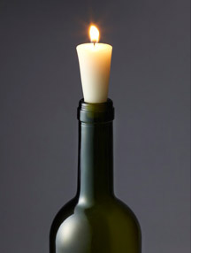 Candle bottle stopper