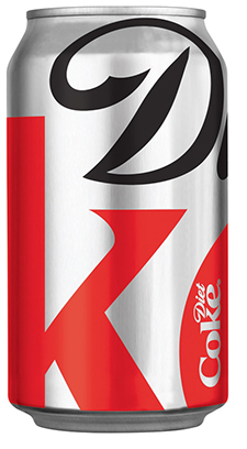 can of diet coke