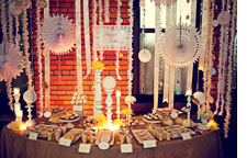 event with paper decor