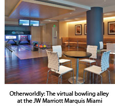 Bowling alley at the JW Marriott Marquis Miami