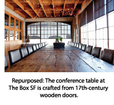 Conference table at The Box SF