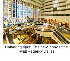 The new lobby at the Hyatt Regency Dallas