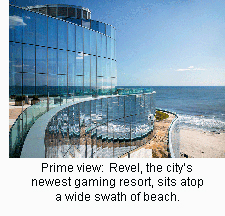 Prime view:  Revel, the city's newest gaming resort, sits atop a wide swath of beach.
