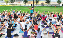 Yoga classes at Bayfront Park