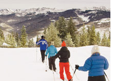 Skiers at Vail Nordic Center