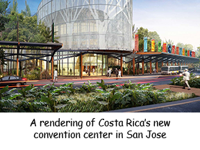 A rendering of Costa Rica's new convention center in San Juan